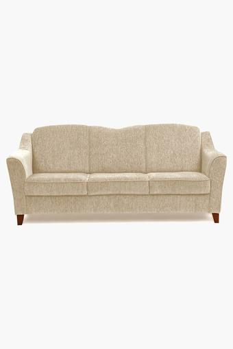 Canvas Beige Fabric Sofa (3 - Seater)