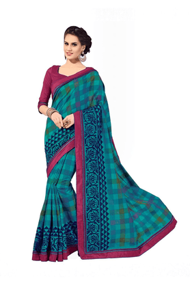 ASHIKA Designer Multicolor Raw Silk Saree