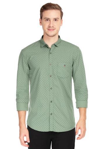 LOUIS PHILIPPE SPORTS -  Green MixShirts - Main