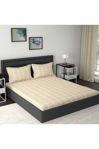 MASPAR -  OrangeDouble Bed Sheets - Main