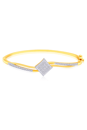 MALABAR GOLD AND DIAMONDSMine Diamond Bangle - Size 2.3