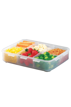 LOCK & LOCK Classics Rectangular Food Container With Divider - 2.7 Litres