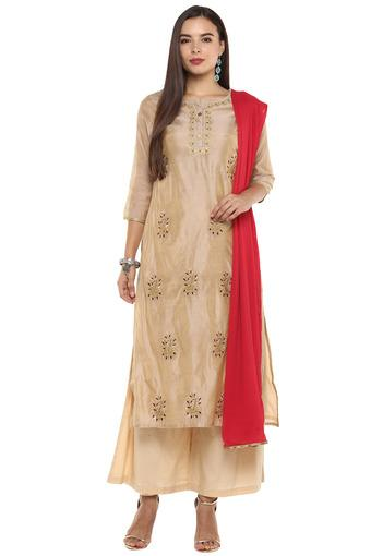 STOP -  Beige Salwar & Churidar Suits - Main