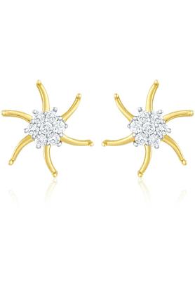 MAHIMahi Gold Plated Earrings With CZ For Women ER1103809G