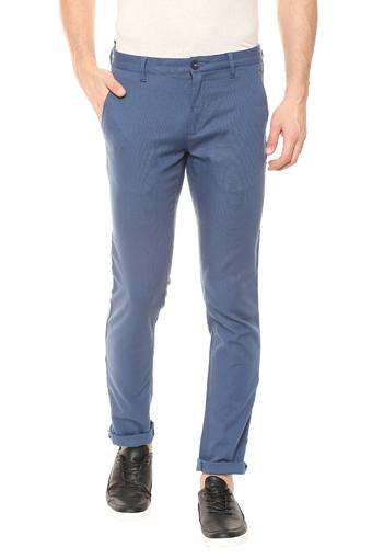 LOUIS PHILIPPE SPORTS -  Mid BlueCasual Trousers - Main