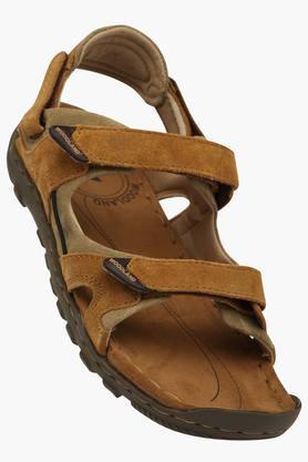 WOODLAND Mens Velcro Closure Casual Sandals