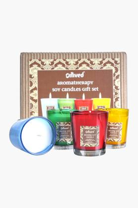 OM VED Aromatherapy Soy Candle Gift Set