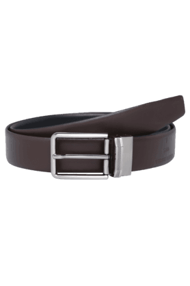 ALLEN SOLLY Mens Leather Reversible Formal Belt