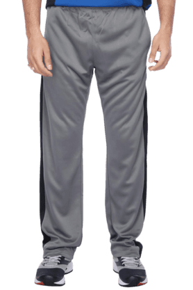 REEBOK Mens Grey White Track Pant