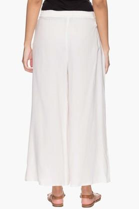 Womens Solid Flared Palazzo Pants