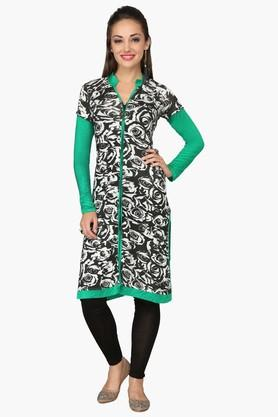 IRA SOLEILWomens Slim Fit Printed Kurta (Buy Any Ira Soleil Product And Get A Charms Bracelet Free) - 201787557