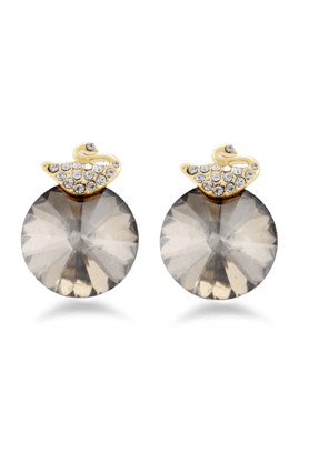 JAZZ Traditional Peacock Shaped AD Stone Earrings For Women�