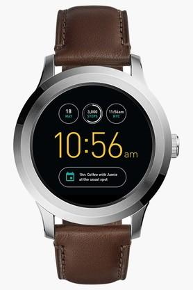 FOSSILMens Touchscreen Leather Smart Watch