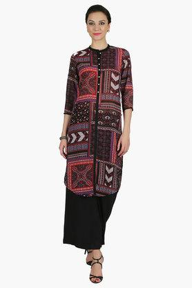 JUNIPER Womens Collared Long Kurta