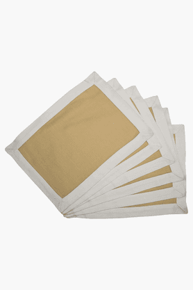 MASPAR White Border Brown Placemat - Set Of 6