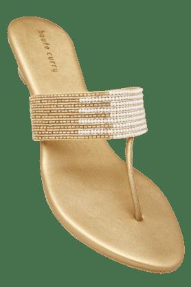 Womens Party Wear Slipon Fancy Heel Chappal