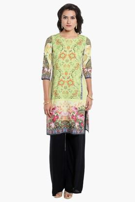 KASHISH Womens Round Neck Printed Kurta - 202124331
