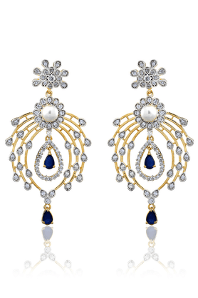 ZAVERI PEARLS Brass Drop Earring - ZPFK811