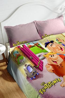 Cotton King XL Digital Printed Bedsheet With Pillow Cover - 202448881