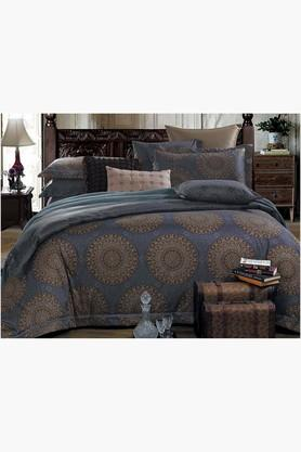 STOA PARIS Multi Colour 200 TC Sateen Bedlinen (Bedsheet Set (King XL)