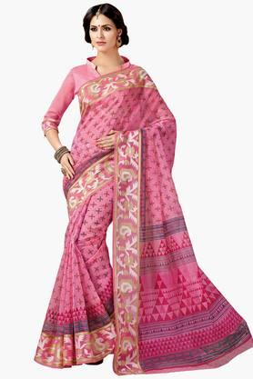 ASHIKA Womens Designer Cotton Printed Saree - 202338224