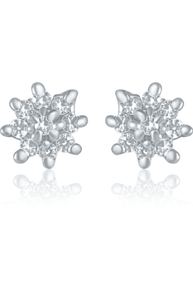 MAHI Mahi Rhodium Plated Dazzling Daisy Earrings With CZ For Women ER1109151R