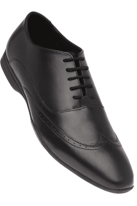 VAN HEUSEN Mens Black Leather Formal Lace Up Shoe