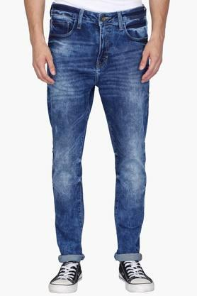 UNITED COLORS OF BENETTONMens 5 Pocket Carrot Fit Stone Wash Jeans