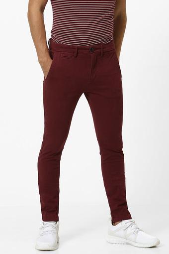 CELIO -  MaroonCargos & Trousers - Main