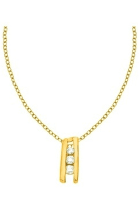 SPARKLESHis & Her Collection 18 Kt Pendant In Gold & Real Diamond HHPXP8835