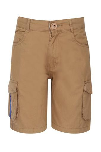 Boys 5 Pocket Solid Cargo Shorts