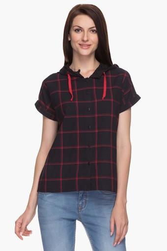 b4323c8a7c0be Buy LIFE Womens Hooded Check Shirt