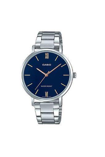 Womens Blue Dial Metallic Analogue Watch - LTP-VT01D-2B