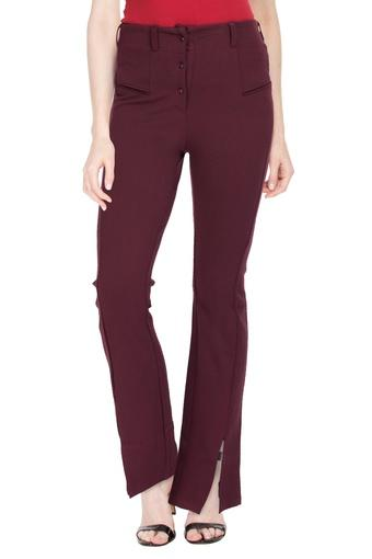 DISHA PATANI FOR GLAM LIFESTYLE -  Wine Pants - Main