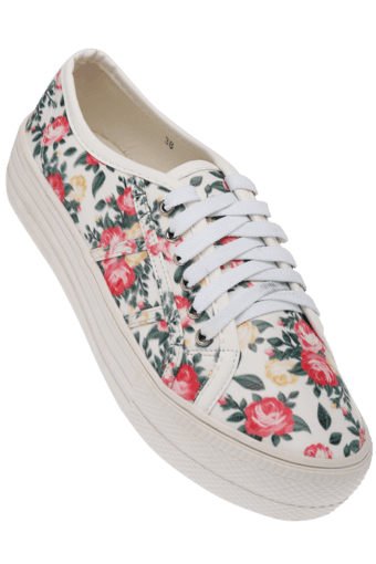 3bb6962a70 Buy FEMINA FLAUNT Womens Floral Print Lace Up Casual Shoe