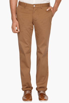 INDIAN TERRAIN Mens Slim Fit Solid Chinos - 200699392