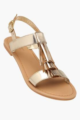 STEVE MADDEN Womens Party Wear Ankle Buckle Closure Flat Sandals - 201646294