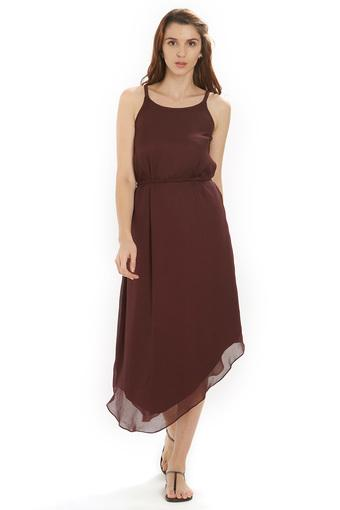 SOIE -  Brown Dresses - Main