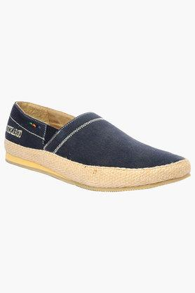 Mens Canvas Slip On Loafers
