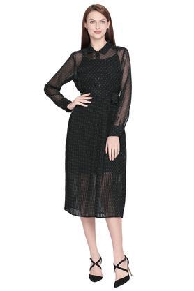 Womens Printed Knee Length Dress
