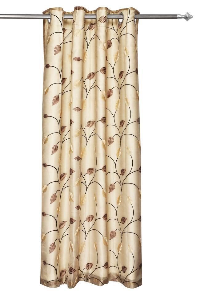 IVY - Brown MixDoor Curtains - Main