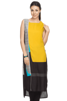 W Womens High-low Printed Kurta