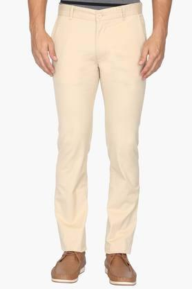 UNITED COLORS OF BENETTON Mens Slim Fit 5 Pocket Solid Chinos  ...