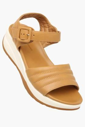 LEMON & PEPPER Womens Casual Ankle Buckle Closure Wedge Sandal - 201435814