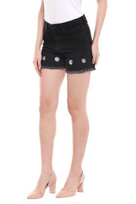 Womens 5 Pocket Rinse Wash Shorts