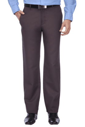 LOUIS PHILIPPEMens Flat Front Regular Fit Solid Chinos - 9428396