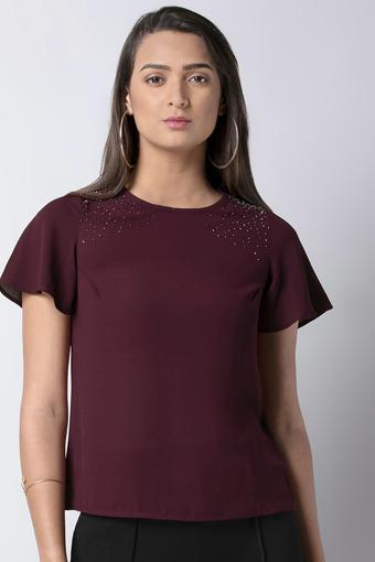 FABALLEY -  MaroonT-Shirts - Main