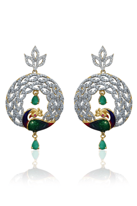 ZAVERI PEARLS Brass Drop Earring - ZPFK818