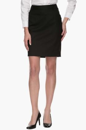 RS BY ROCKY STAR Womens Knee Length Solid Skirt
