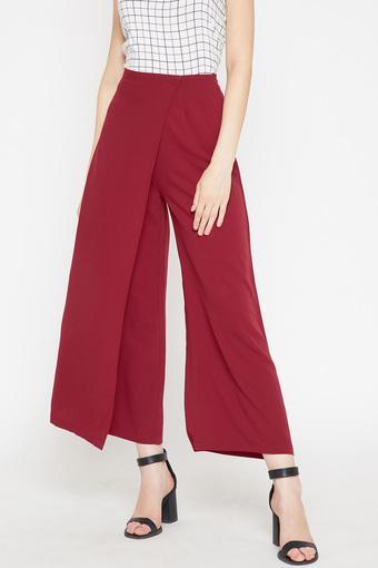 RARE -  MaroonTrousers & Pants - Main